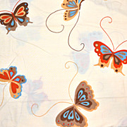 1970s Martex ~ Happy Butterfly Twin Sheet Set
