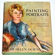 1963 Painting Portraits ~ Hardcover Book w/ DJ