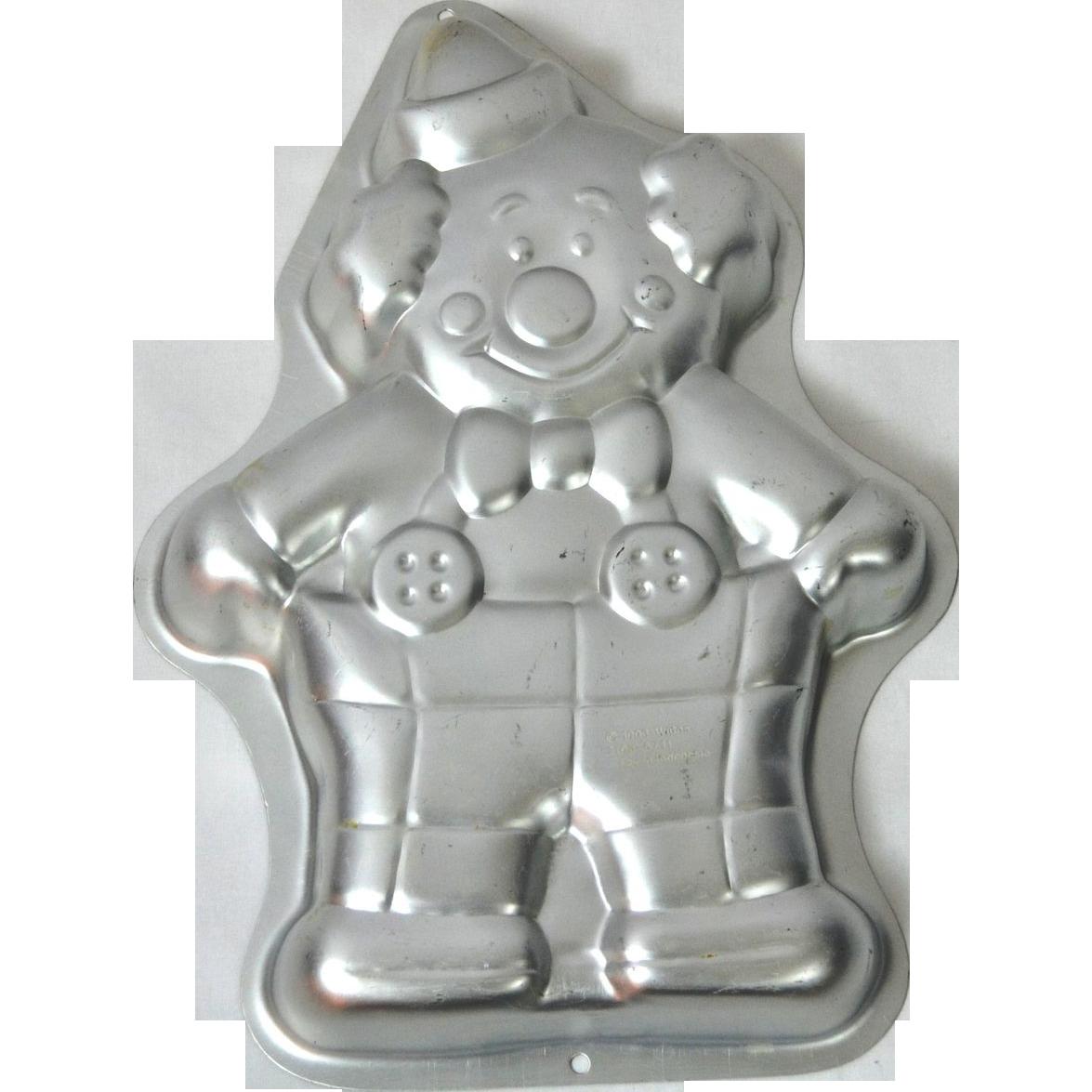 1993 Wilton Circus Clown Aluminum Cake Pan