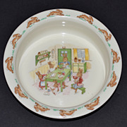 "Royal Doulton ~ Bunnykins ""Baking in the Kitchen"" Bone China Bowl"