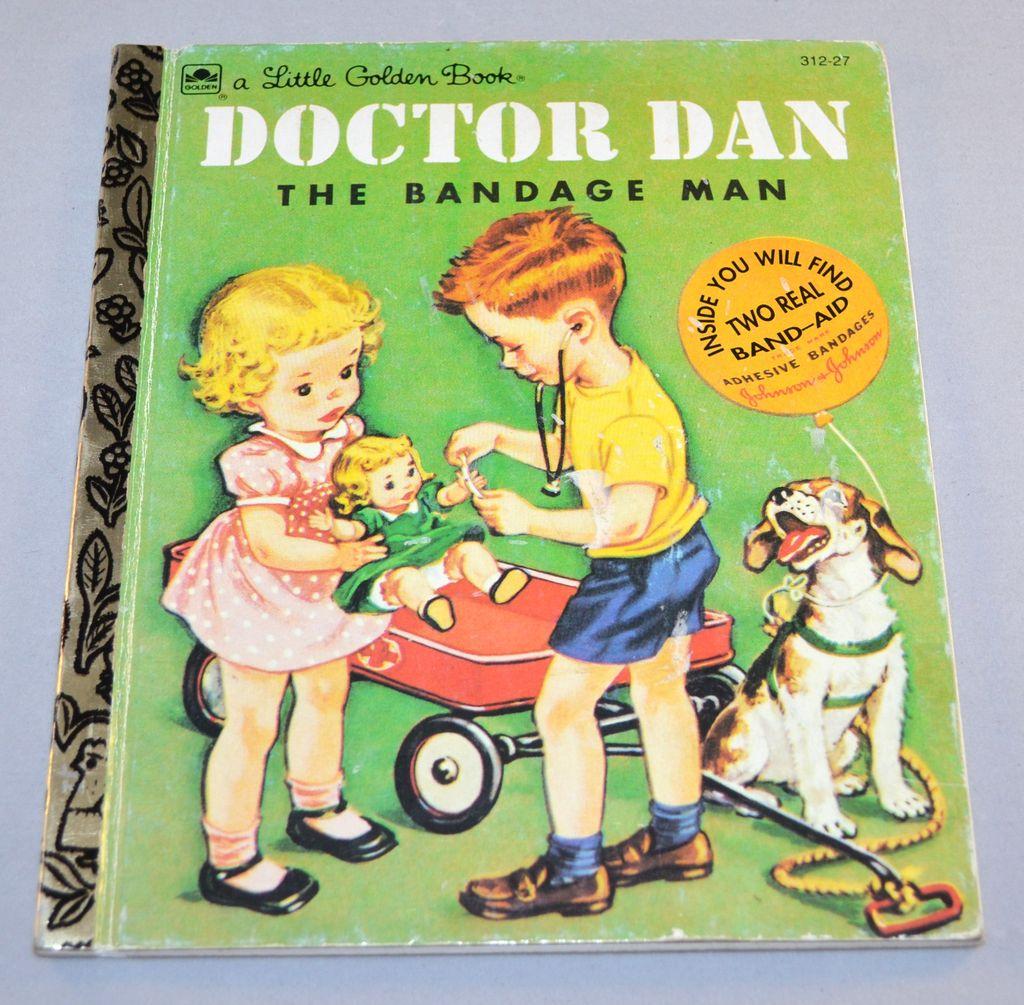 1992 Doctor Dan The Bandage Man Little Golden Book W Band