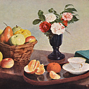 Fantin-Latour ~ Still Life Flower & Fruit Reproduction Art Print