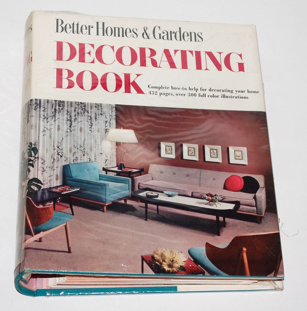 1950s Better Homes & Gardens ~ Decorating Binder Book w/ Mylar Jacket
