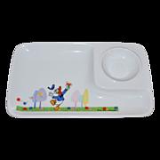 1971 Disney ~ Donald Duck Ceramic Child's Plate