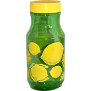 Anchor Hocking 1 Quart Green Glass Lemonade Jar with Lid