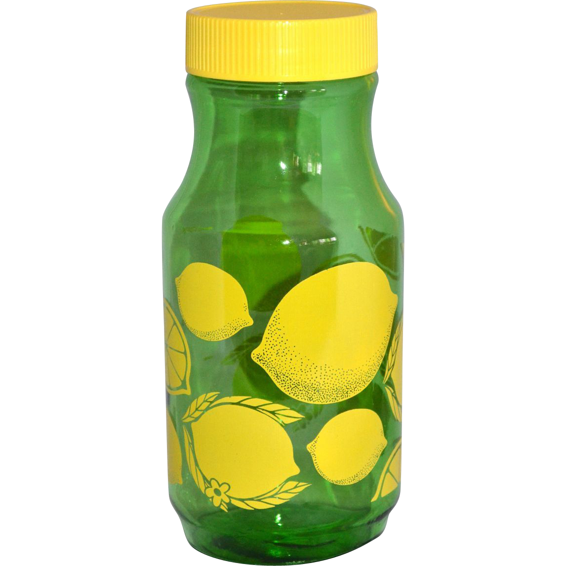Anchor Hocking 1 Quart Green Glass Lemonade Jar with Lid