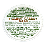 1983 Royal China ~ Ceramic 'Holiday Carrot Cake' Plate