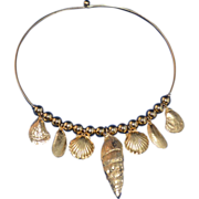 Beach-Inspired Faux Seashell Choker Necklace
