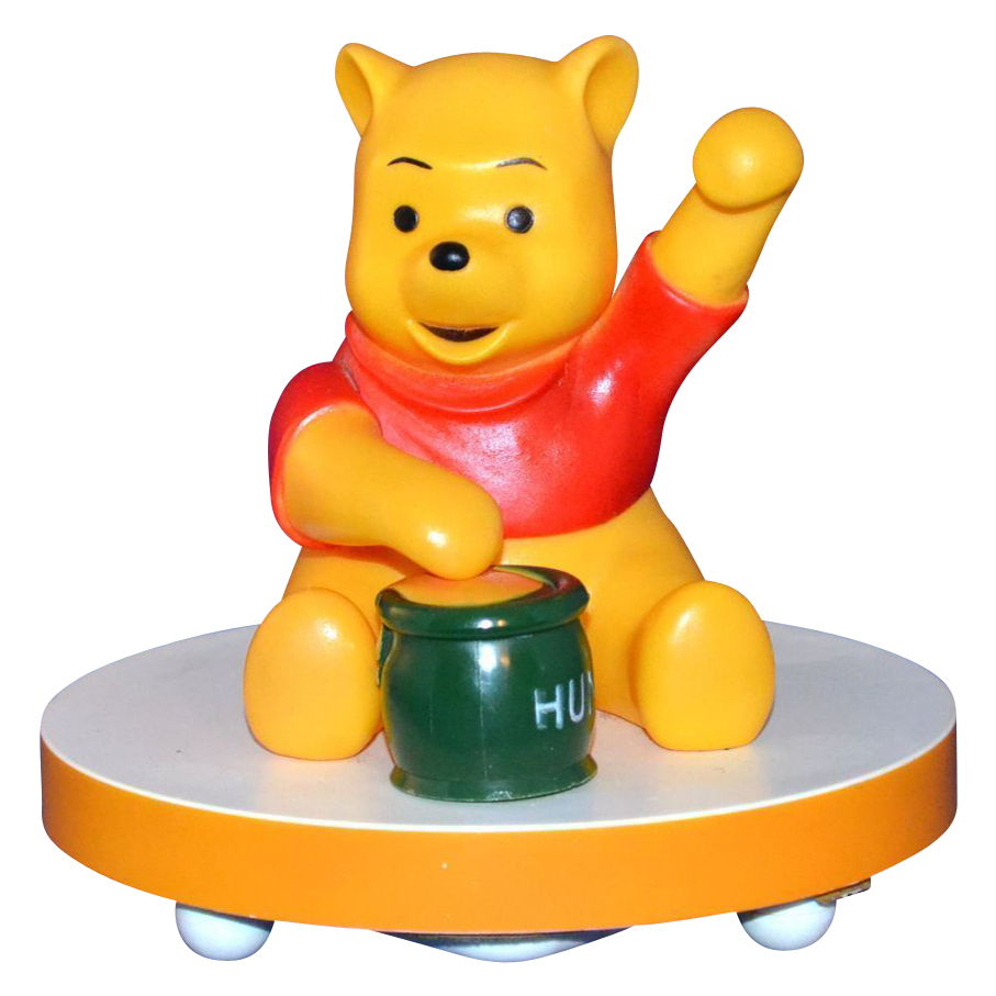 1960 70s Disney Musical Winnie The Pooh Lamp From