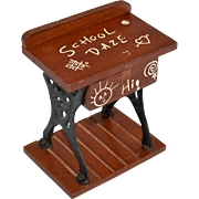 Judi's Sweet Shoppe SCHOOL DAZE Student's Desk Figural Wood & Metal Candy Container
