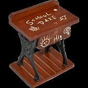 Judi's Sweet Shoppe SCHOOL DAZE Student's Desk Figural Wood & Metal Candy Container