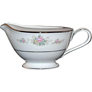 Noritake Astor Rose White Porcelain Creamer
