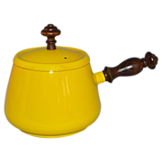 1960s Tyson ~ Sunny Yellow Fondue Pot w/ Original Lid
