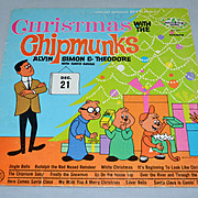 1962 Christmas with the Chipmunks LP Record