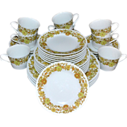 1970s Noritake Summerville ~ 33-Pc China Dinnerware Set