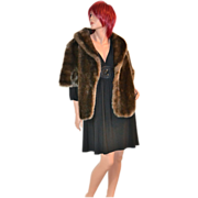 Glenoit ~ Deep Pile Faux Fur Cape/Coat