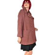 Printzess ~ Tailored Rust Brown Wool Blend Coat