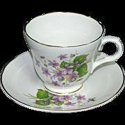 Crown Trent ~ Fine Bone China Teacup & Saucer