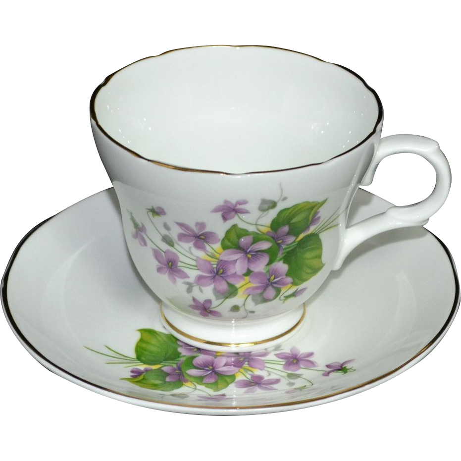 crown trent fine bone china teacup saucer from kitschandcouture on ruby lane. Black Bedroom Furniture Sets. Home Design Ideas