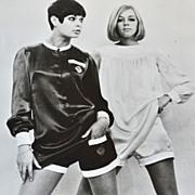 1966 Mary Quant Girls in Mini Pants B&W 8x10 Press Photo