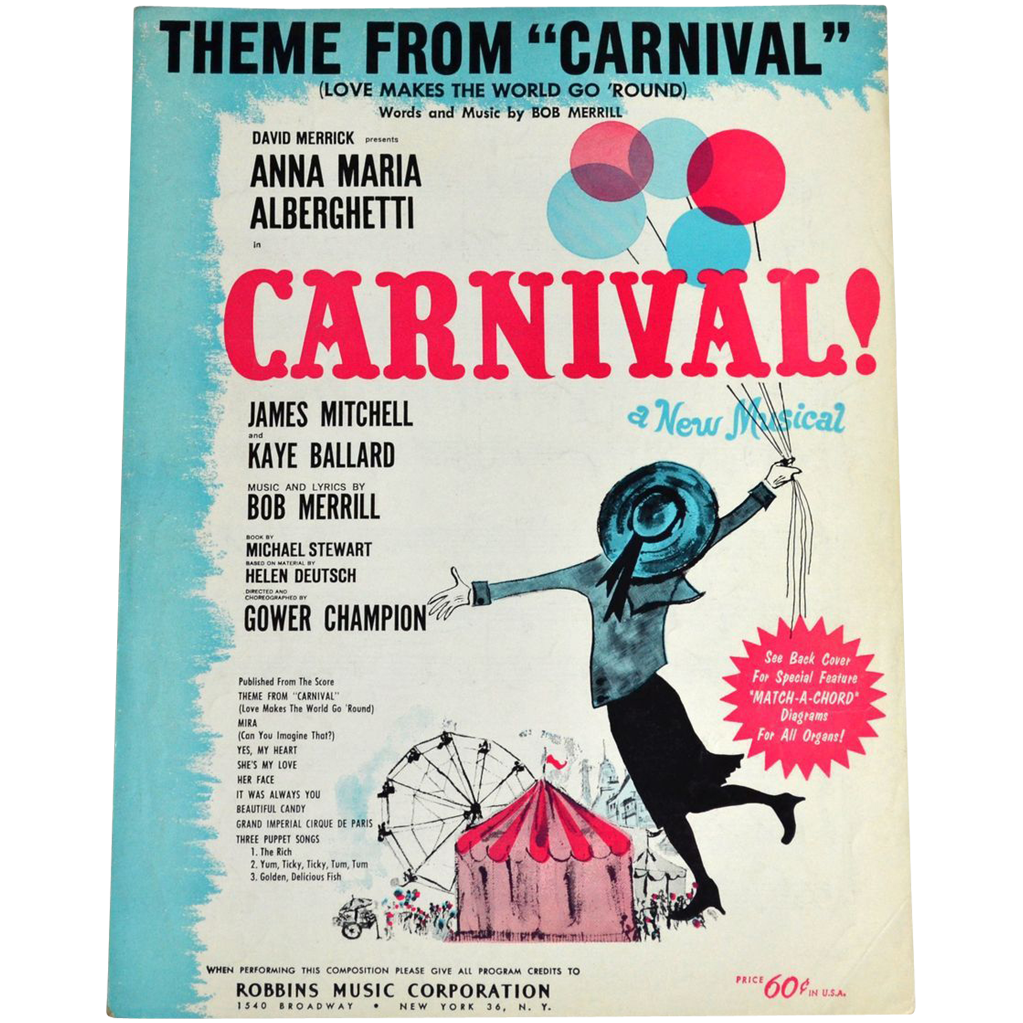 1961 Carnival Love Makes The World Go Round Sheet