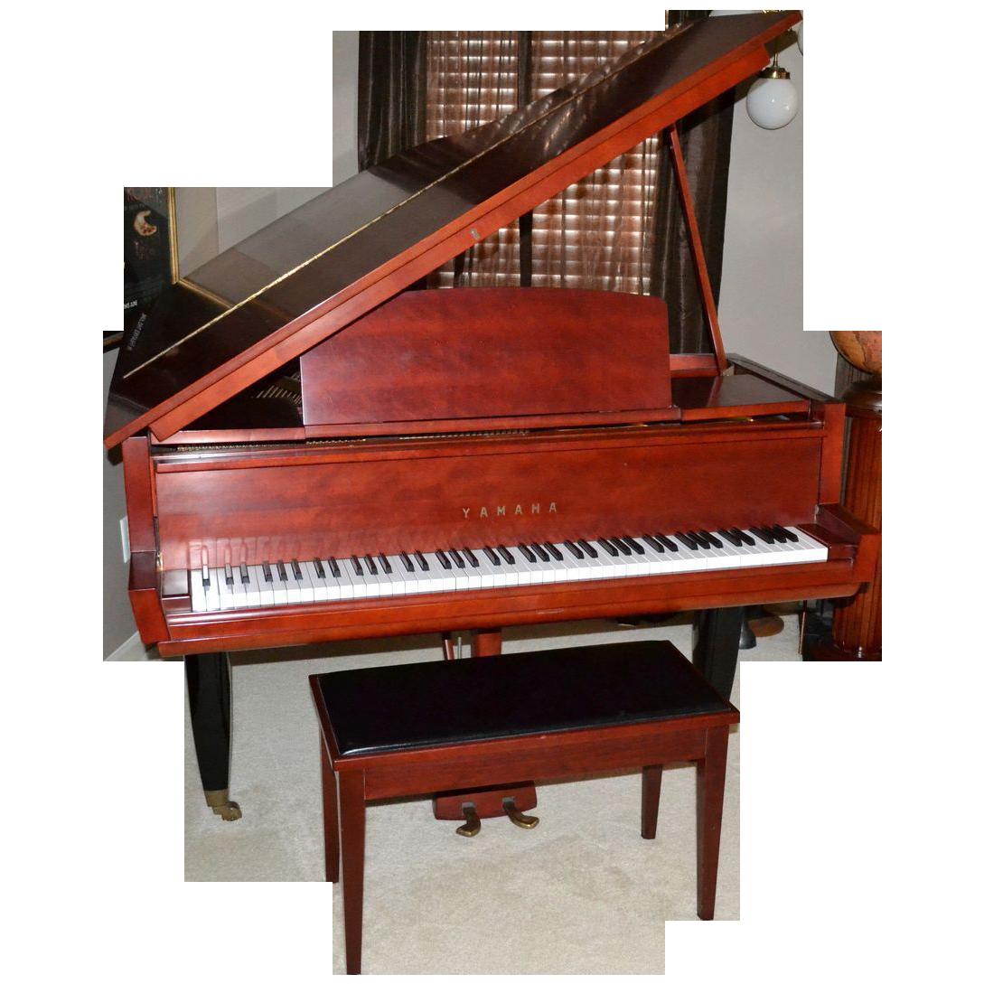 1962 rare museum quality yamaha 5 39 2 red baby grand piano