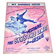 1943 The Sky's The Limit 'My Shining Hour' Sheet Music