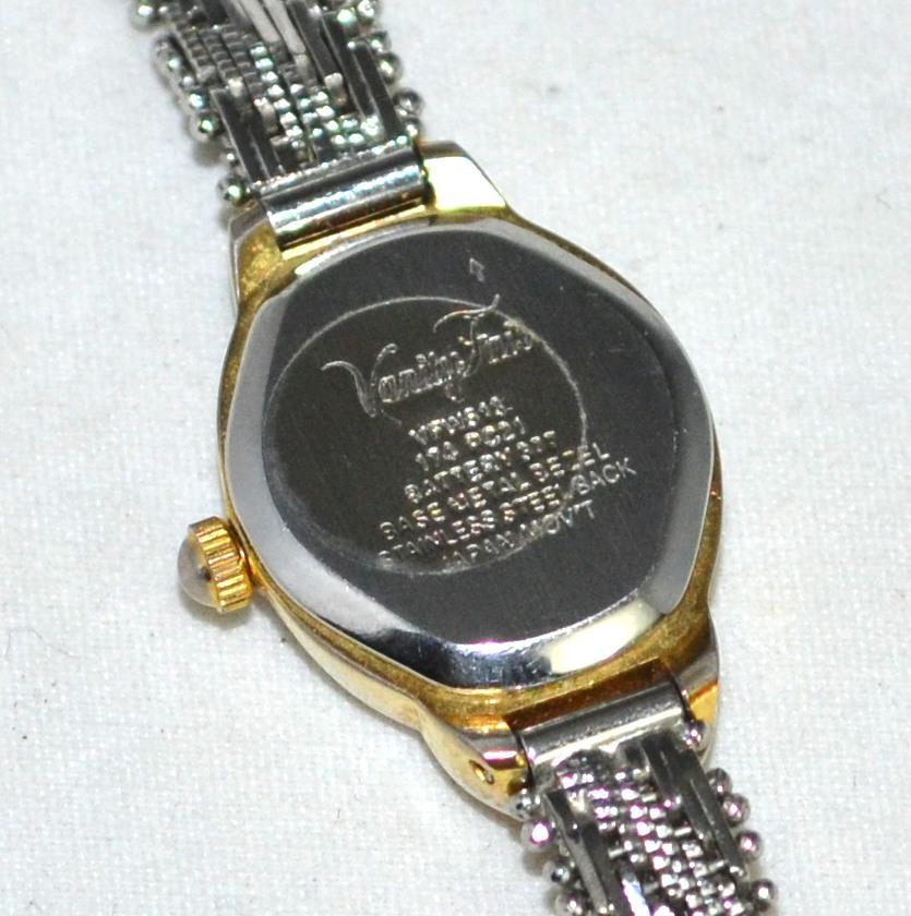 Vanity Fair ~ Diamond Chip Watch w/ Snake Mesh Wristband ...