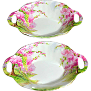 1950s Royal Albert ~ Blossom Time ~ Sweet Meat Bone China Dish ~ 2 Available
