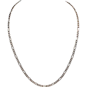 Sterling & Gold Vermeil Italian Figaro Chain Necklace