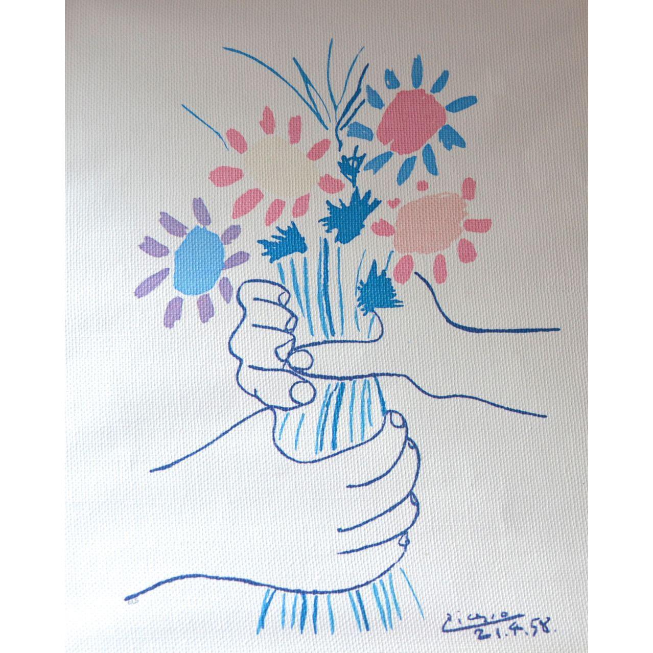 Lambert picasso les petites fleurs canvas art for Picasso petite fleurs