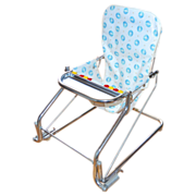 1950s Taylor Tot ~ Baby Bouncer w/ Abacus Chrome Aluminum Chair