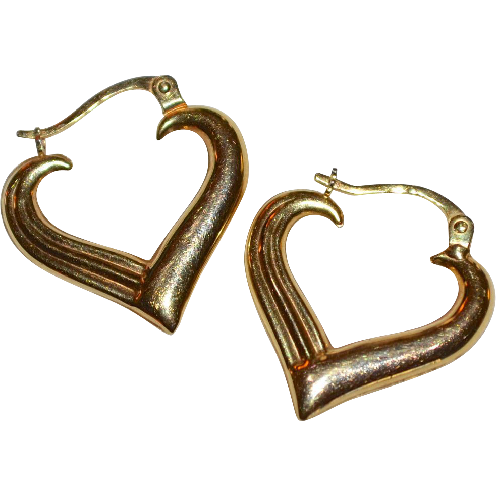heart earrings gold - photo #29
