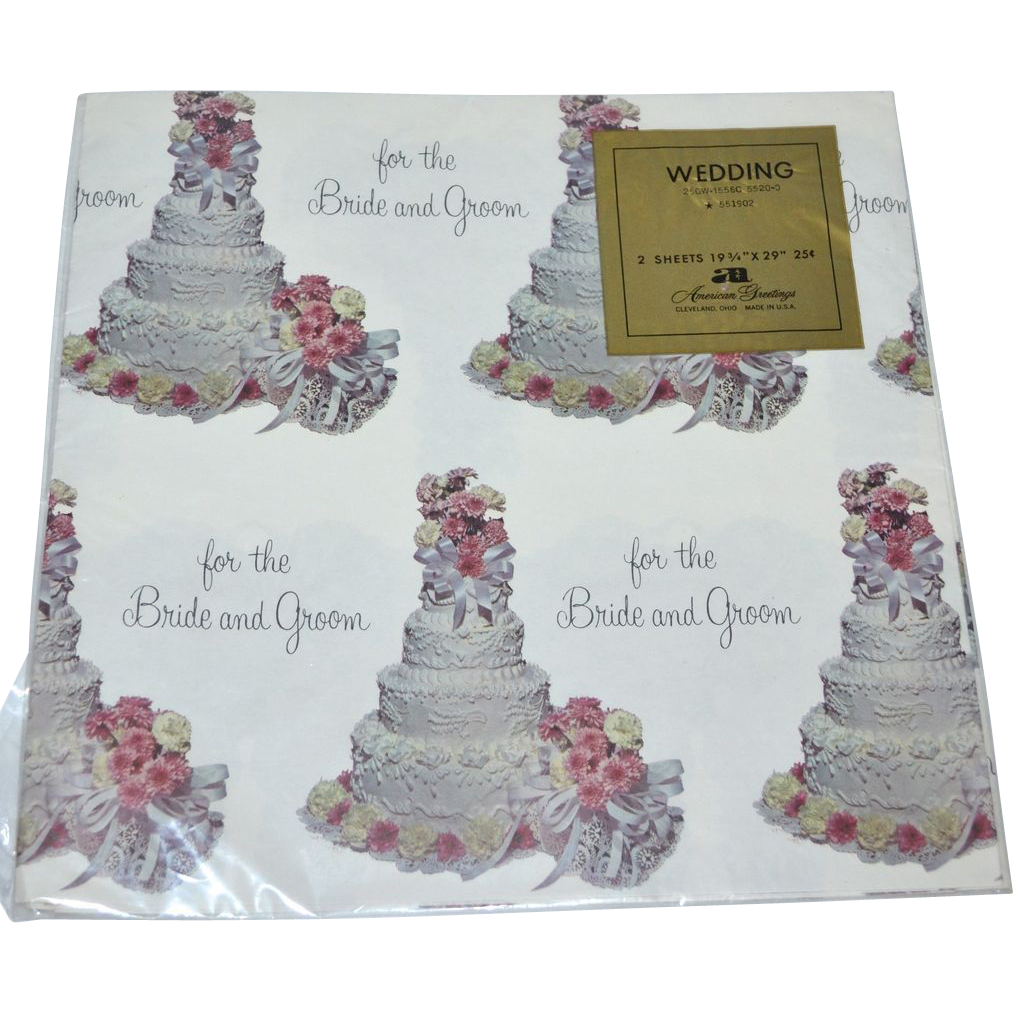 1950s American Greetings ~ Wedding or Bridal Shower Gift Wrap/ from ...