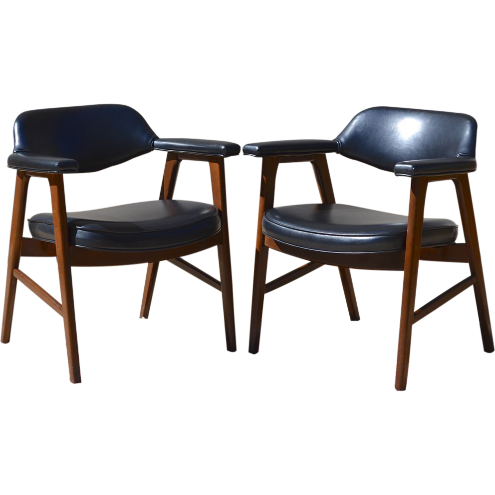 Set of 2 Paoli Mid Century Danish Modern Chairs Juhl Chieftain