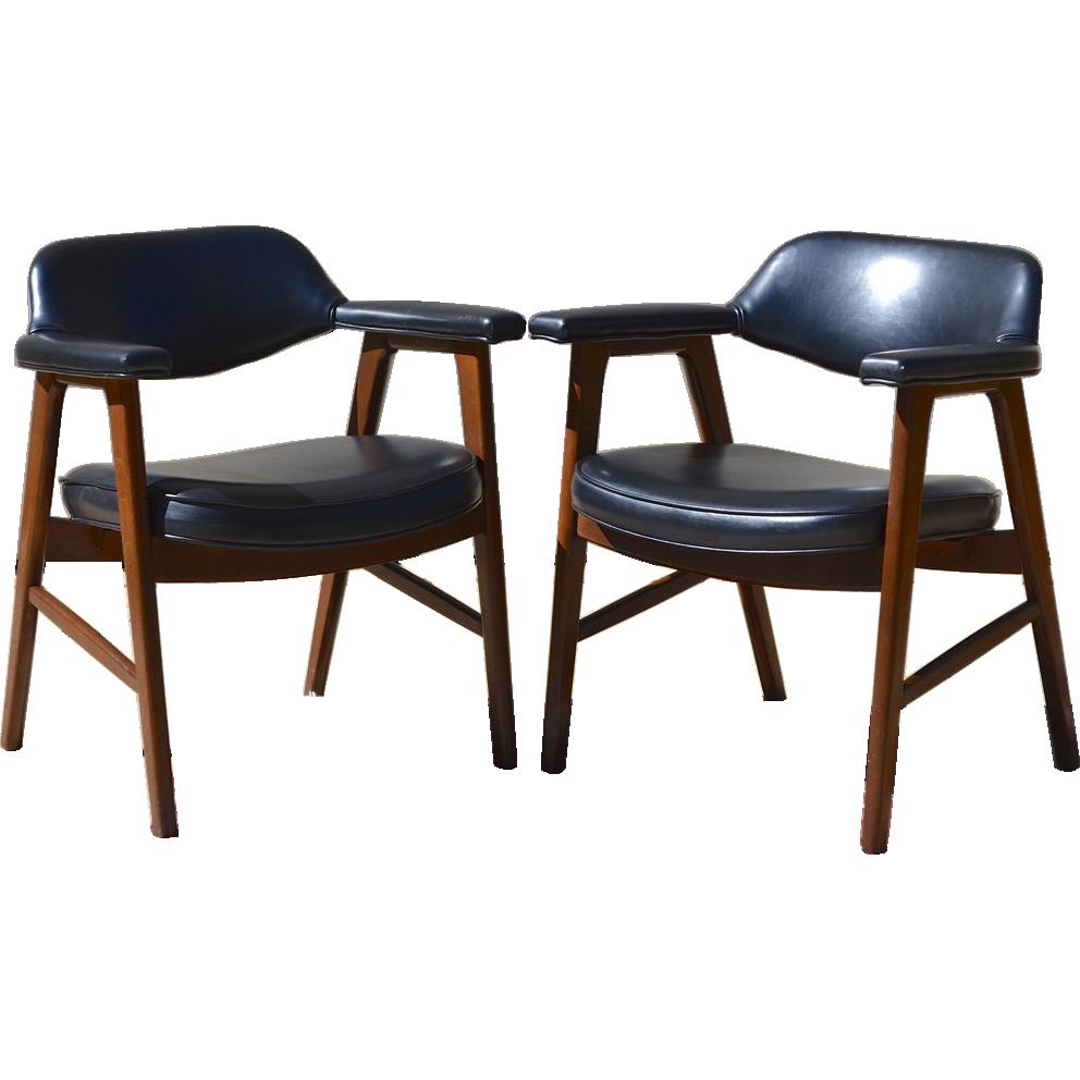 Merveilleux Set Of 2 Paoli Mid Century Danish Modern Chairs, Juhl Chieftain Style, :  Kitsch U0026 Couture | Ruby Lane