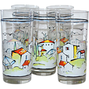 Set of 5 Provence Sakura by Apple Tumbler Glasses