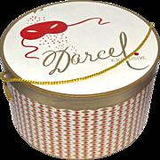 Darcel Exclusive Hat Box w/ Mardi Gras Mask & Diamond Shape Design