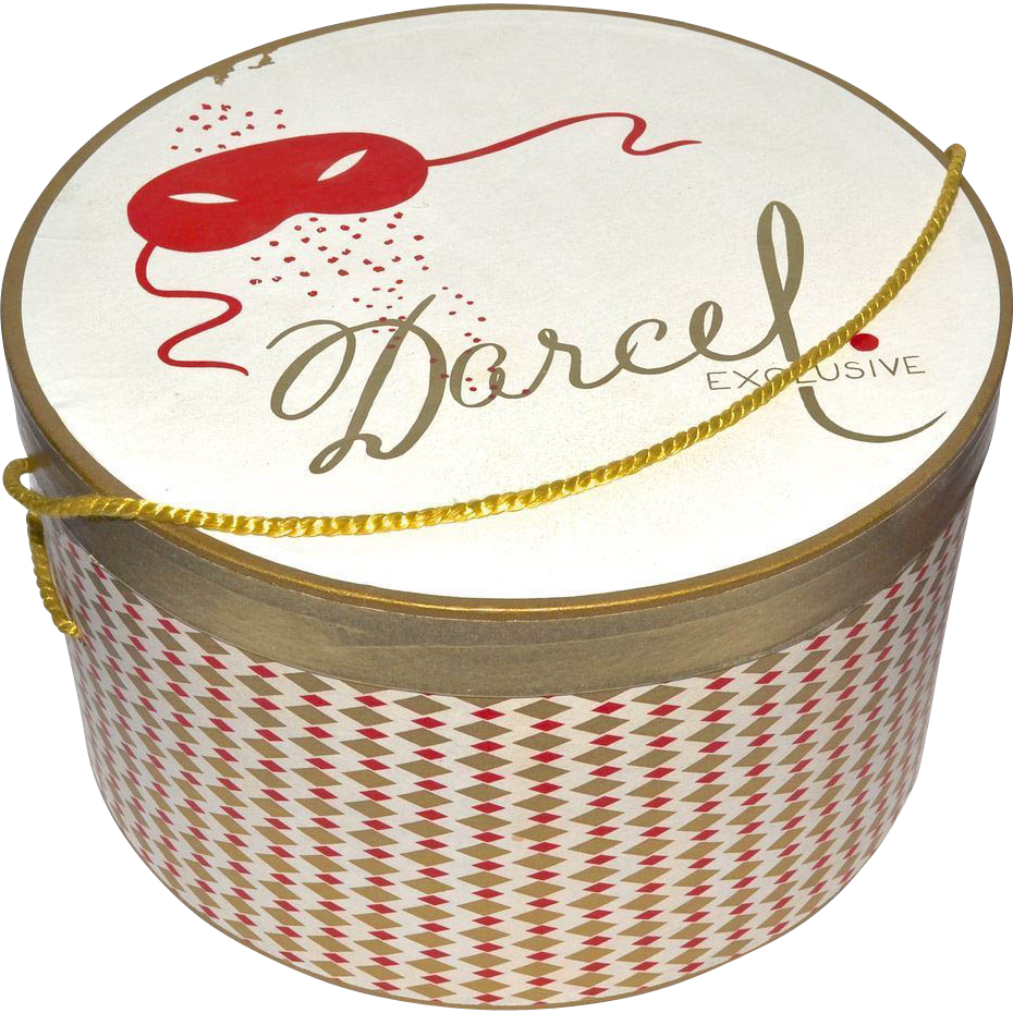 Darcel Exclusive Hat Box W Mardi Gras Mask Diamond Shape Design From Kitschandcouture On Ruby Lane