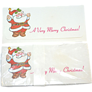 Unused Set of 10 Christmas Santa Money Holder Envelopes