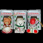 Jasco Li'l Chimer Bisque Christmas Bell Ornament in Original Box