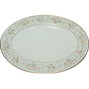 "Noritake Willowbrook Bone China 14""Oval Serving Platter ~ 2 Available"