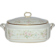 Noritake Willowbrook Bone China Covered Vegetable Dish or Soup Tureen