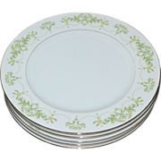 Fine China of Japan Granada Set of 5 Dinner Plates