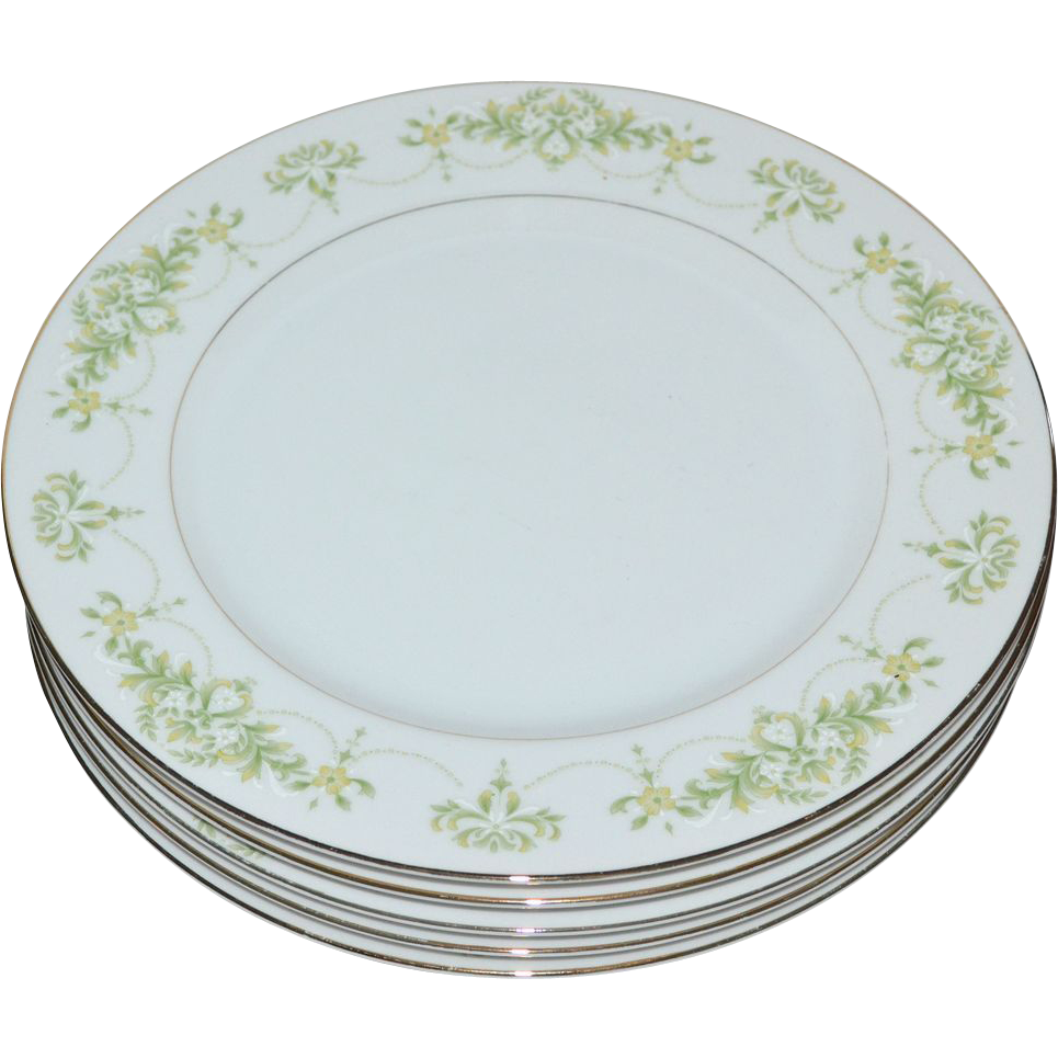 Fine China Of Japan Granada Set Of 5 Dinner Plates From Kitschandcouture On R