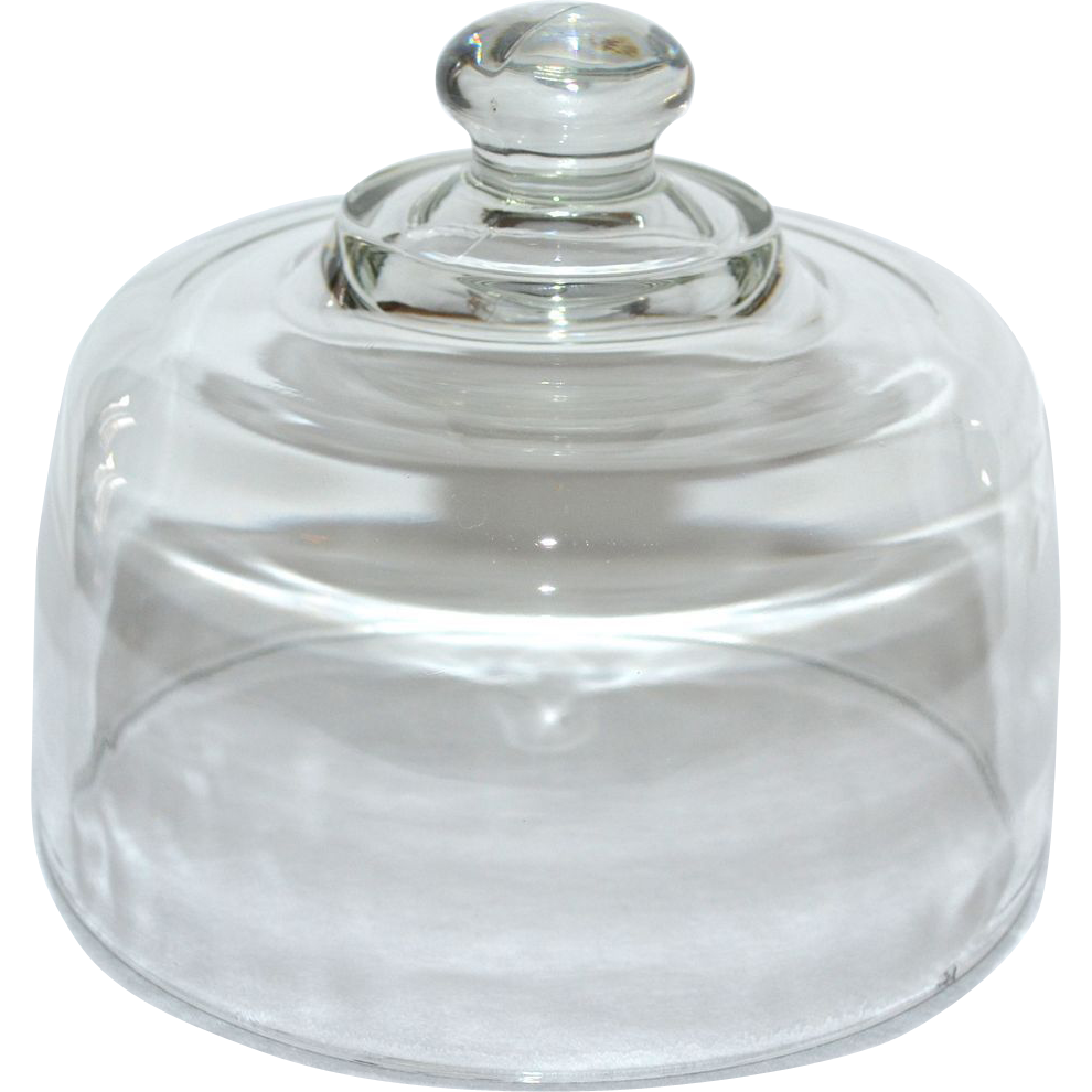 Glass Banana Bell With Lid