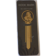 18K Gold Plated Monkey Bookmark in Original Package