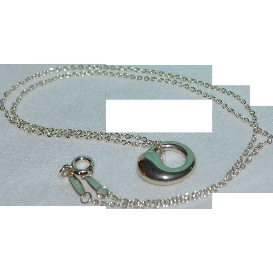 Tiffany co elsa peretti sterling silver eternal circle pendant elsa peretti sterling silver eternal circle pendant sold ruby lane aloadofball Images
