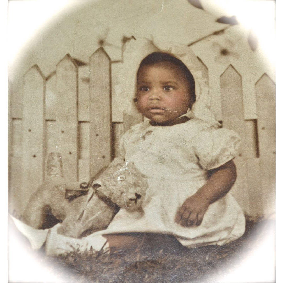 1920s Large Original Photo Of African American Baby Girl