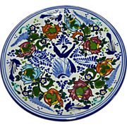 Beautiful Signed Authentic Talavera Mexican Pottery Majolica Plate